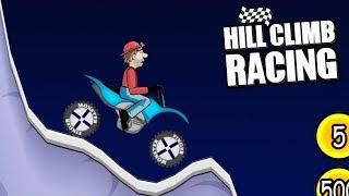 Hill Climb Racing - Motocross Bike on Moon 1691m | GamePlay