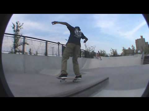Derek Holmes At Far Rockaway Skatepark