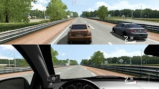 Forza 4:Split Screen Drags Pt.2 - 450+HP H/C/I LS2 GTO vs 350+HP FBO Cobalt SS