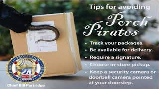 Crime Prevention Trips for Holiday Packages