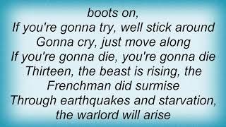 Sonata Arctica - Die With Your Boots On Lyrics