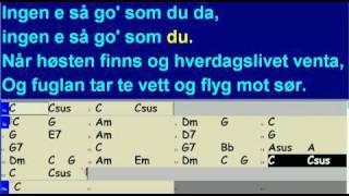 Karaoke Av Kjærlighetsvisa Med Besifring