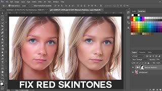 How to Fix Red Skintones in Photoshop - Remove or Reduce Red Tones from Skin?