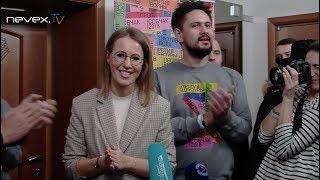 Ксения Собчак в Петербурге - 2 декабря 2017