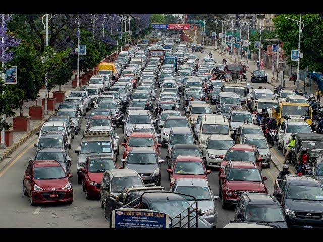 Traffic jam again in Kathmandu