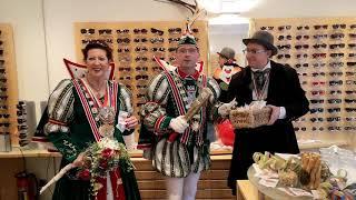 Optik Lindemann: Wurfmaterial für das Hildener Prinzenpaar