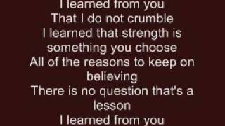 I Learned From You - Hannah Montana (with lyrics)
