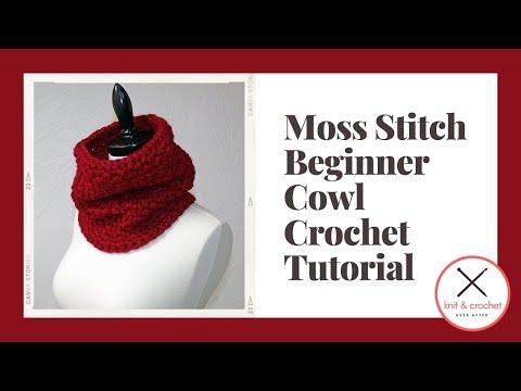 Moss Stitch Beginner Cowl - Crochet Ever After
