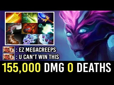 OMG 155K DMG 0 DEATHS 7.22 Scepter Spectre vs MEGACREEPS Most Craziest Comeback by Timado WTF Dota 2
