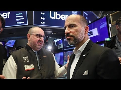 Uber begins trading at $42 per share after pricing at $45