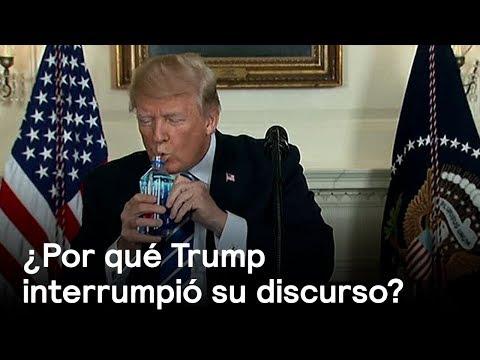 Donald Trump interrumpe su propio discurso - En Punto con Denise Maerker