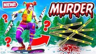 DRIFT BOARDS instead of SNOWMEN!? *NEW* Murder Run! in FORTNITE!