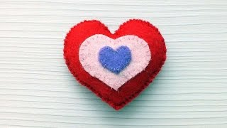 How To Sew A Felt Heart - DIY Crafts Tutorial - Guidecentral
