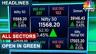 Opening Bell: Sensex Opens Over 150 Pts Higher, Nifty Above 11,550; All Sectors In Green | CNBC-TV18 - Download this Video in MP3, M4A, WEBM, MP4, 3GP