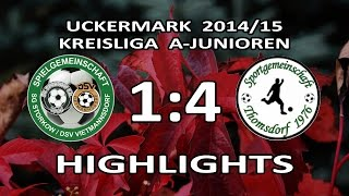 preview picture of video 'STORKOW/VIETMANNSDORF - SG THOMSDORF 1:4 - Highlights [A-Junioren-Kreisliga UM 14/15 - 14.Spieltag]'