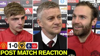 Hear Reds boss Ole Gunnar Solskjaer, match-winner Juan Mata and defender Brandon Williams react to the 1-0 win over Wolves in the Emirates FA Cup at Old Trafford.  Subscribe to Manchester United on YouTube at http://bit.ly/ManU_YT Visit Manchester United at http://www.manutd.com Like Manchester United on Facebook at http://www.facebook.com/manchesterunited Follow Manchester United on Twitter at http://www.twitter.com/ManUtd Follow Manchester on Instagram at http://www.instagram.com/manchesterunited Subscribe to MUTV at https://bit.ly/2L9ymRs