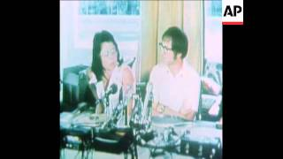 SYND 19-9-73 BILLIE JEAN KING AND BOBBY RIGGS PRESS CONFERENCE