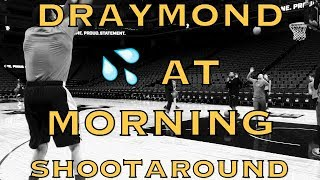 Draymond Green 💦 at Warriors (19-10) morning shootaround before Kings at Sacramento