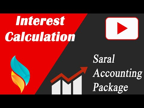 Interest Calculation in Saral | Bank Style interest Calculation In Saral | Saral Accounting Package