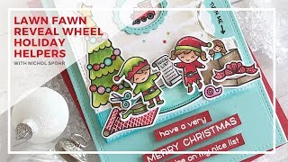 Lawn Fawn | Holiday Helpers + Reveal Wheel Square Add On