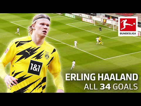 Erling Haaland – 34 Goals in Only 36 Matches