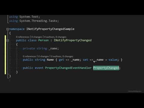 XAML: How to Implement INotifyPropertyChanged