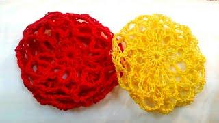 How to make a crochet hair bun cover (A)