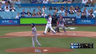 NYM@LAD: Bellinger crushes two-run homer to right