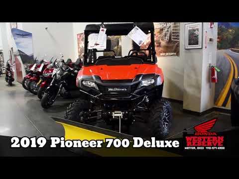 2019 Honda Pioneer 700 Deluxe in Mentor, Ohio