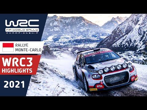 WRC3 2021 開幕戦のラリーモンテカルロ 金曜日のハイライト映像