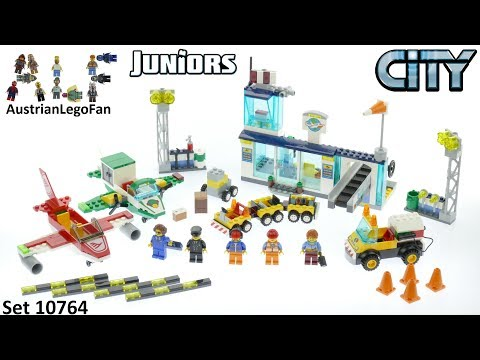 Vidéo LEGO Juniors 10764 : L'aéroport City Central