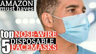 TOP 5: BEST DISPOSABLE FACE MASKS ON AMAZON- NOSE CLIP/WIRE-WEAR W/ GLASSES-COVID-19 | REVIEWS 2020