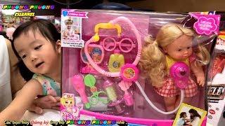 Đồ chơi khám bệnh | bác sĩ khám bệnh cho búp bê baby | family toys kids review
