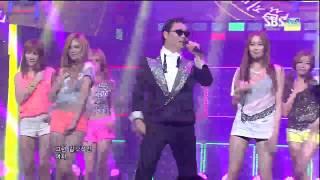PSY [강남스타일] @SBS Inkigayo 인기가요 20120729