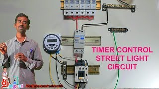 Timer Control Street Light Connection In Tamil And English