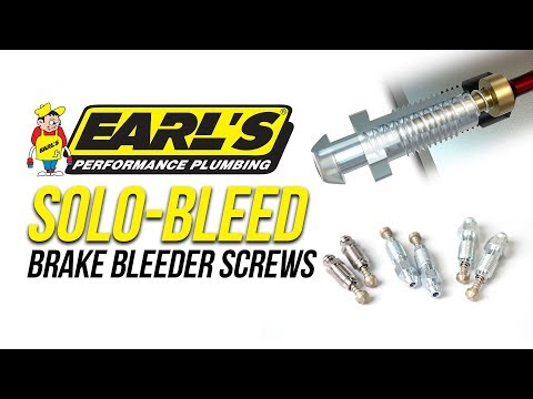 Earl's Solo-Bleed Brake Bleeder Screws