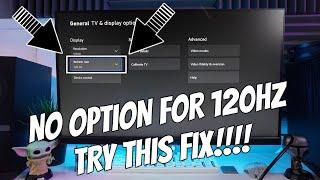 Xbox Series X + S No 120hz Settings Option Fix On Hdmi 1.4, 2.0 On 144hz+  PC Monitors!!!!!!