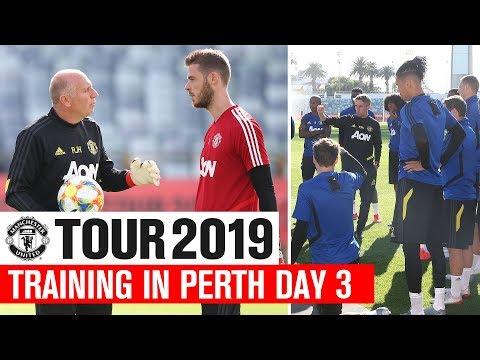 Manchester United | Tour 2019 | Training In Perth Day 3 | James Dalot Rashford