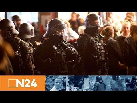 N24 Nachrichten - Massiver Polizeieinsatz in Hamburg: Wieder brennen Barrikaden im Schanzenviertel