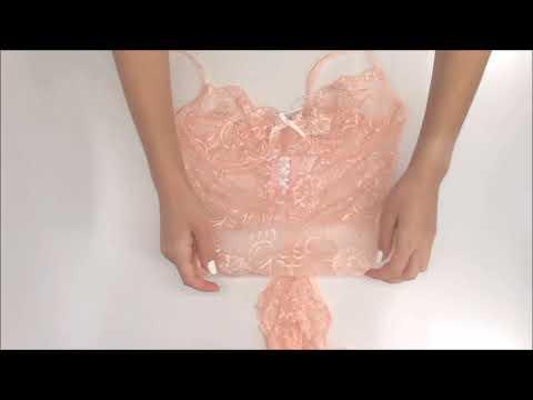 Něžné body Alluria teddy pink - Obsessive