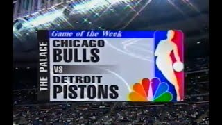 1996 Chicago Bulls at Detroit Pistons - January 21 - FULL GAME