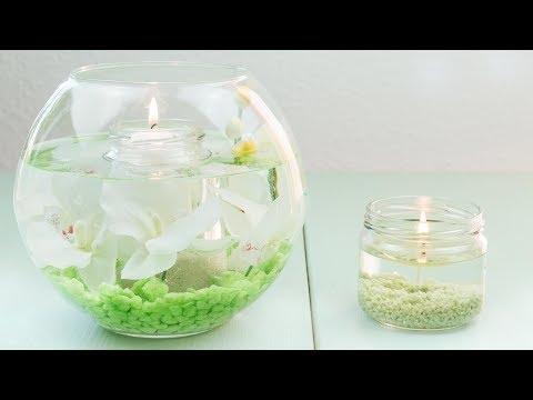 DIY Wasserkerzen basteln  | 2 Möglichkeiten | Wasserkerzen selber machen