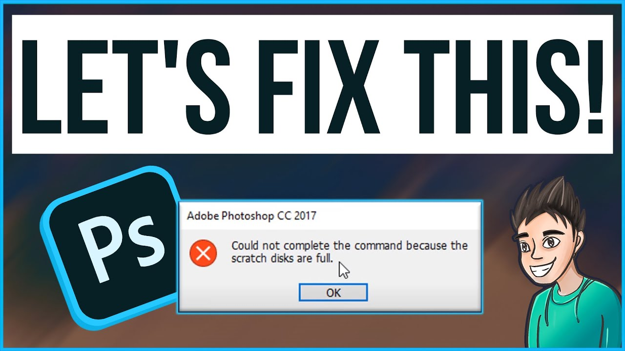 How To Fix Scratch Disk Full Error In Adobe Photoshop   SINHALA