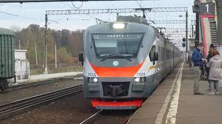 Электропоезд ЭП2Д-0048 ЦППК станция Бекасово-1 13.10.2018