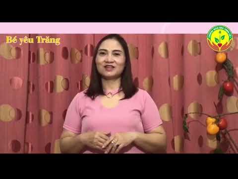 """Trường Mn Thịnh Liệt- Lĩnh vực PTNN- Thơ """"Bé yêu trăng"""" 3-4 tuổi"""