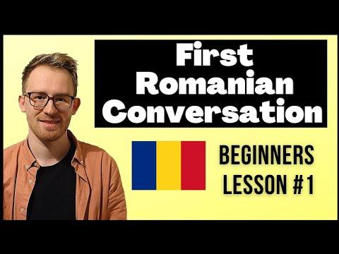 Romanian Conversation for Beginners. Lesson #1 - First Romanian Conversation