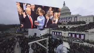 Watch in 360 degrees as Trump takes oath of office