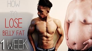 How To Lose Belly Fat In 1 Week! (Kids, Teenagers, Adults)