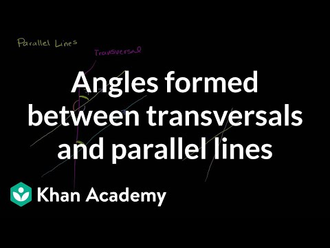 Angles Formed Between Transversals And Parallel Lines Video Khan