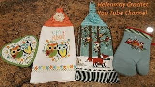 Quick Easy Beginner Lifes A Hoot Crochet Kitchen Towel Topper DIY Tutorial